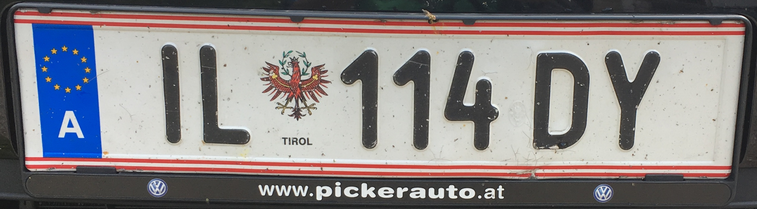 Registrační značka Rakousko - IL - Innsbruck-venkov, foto: www.podalnici.cz