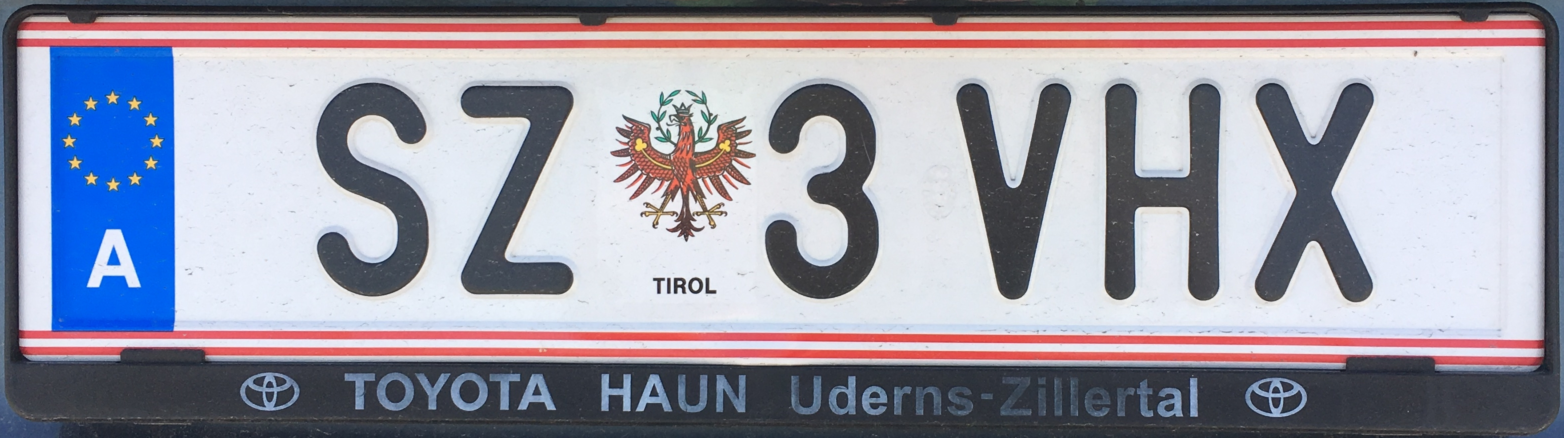 Registrační značka Rakousko - SZ - Schwaz, foto: www.podalnici.cz