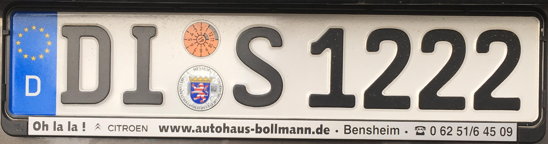 Registrační značky Německo - DI – Dieburg, foto: www.podalnici.cz