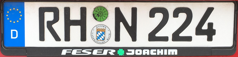 Registrační značky Německo - RH - okres Roth, foto: www.podalnici.cz
