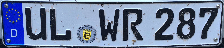 Registrační značky Německo - UL - Ulm, foto: www.podalnici.cz