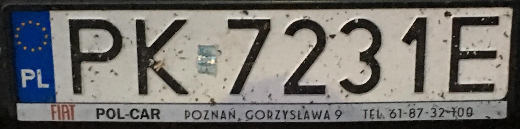 Registrační značka Polsko – PK - Kalisz, foto: www.podalnici.cz