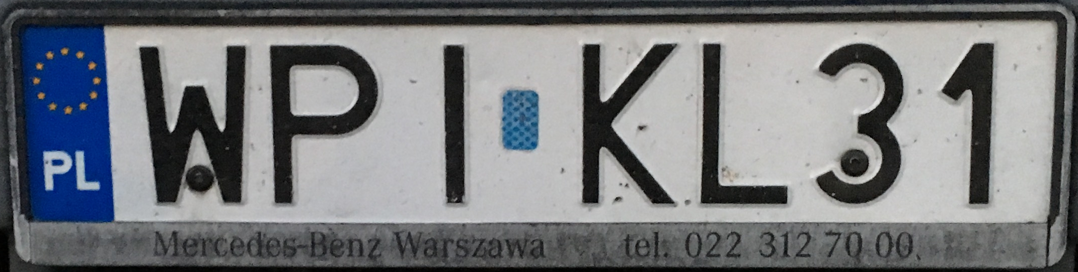 Registrační značka Polsko – WPI - Piaseczno, foto: www.podalnici.cz