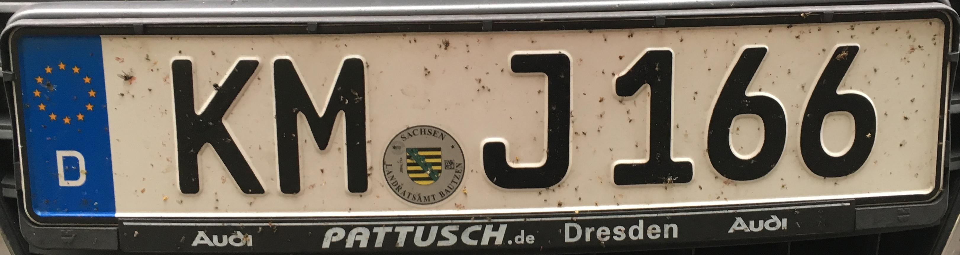 Registrační značky Německo - KM - Kamenz, foto: www.podalnici.cz