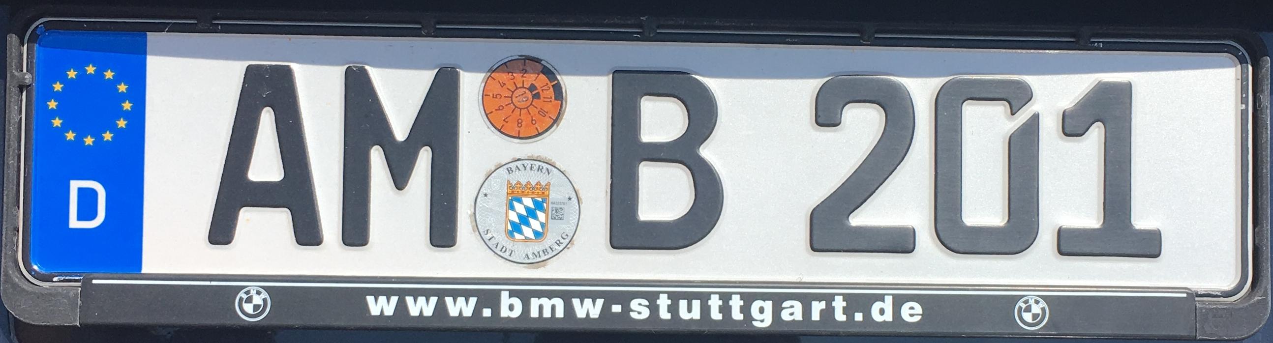 Registrační značka Německo – AM - Amberg, foto: www.podalnici.cz
