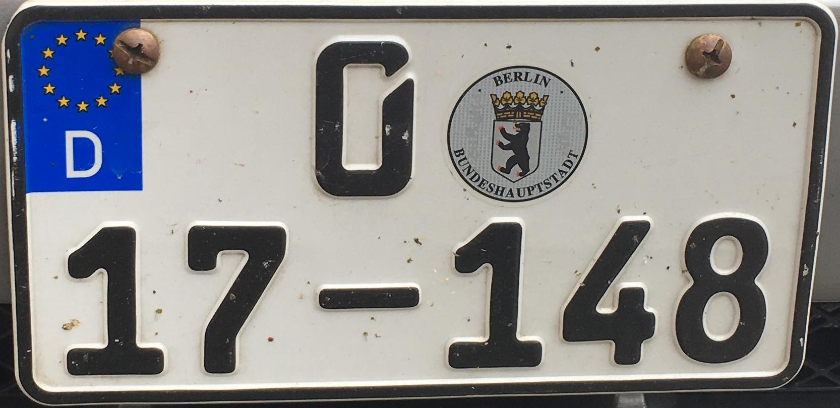 Německá registrační značka - diplomatická, foto: www.podalnici.cz