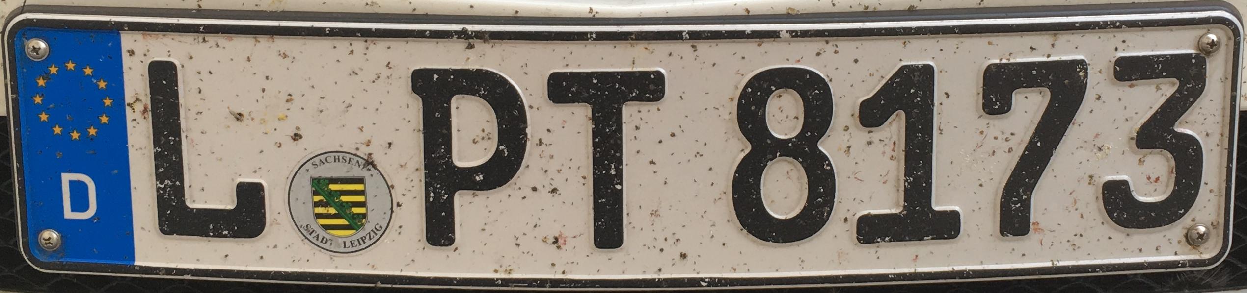 Registrační značka Německo - L - Leipzig, foto: www.podalnici.cz