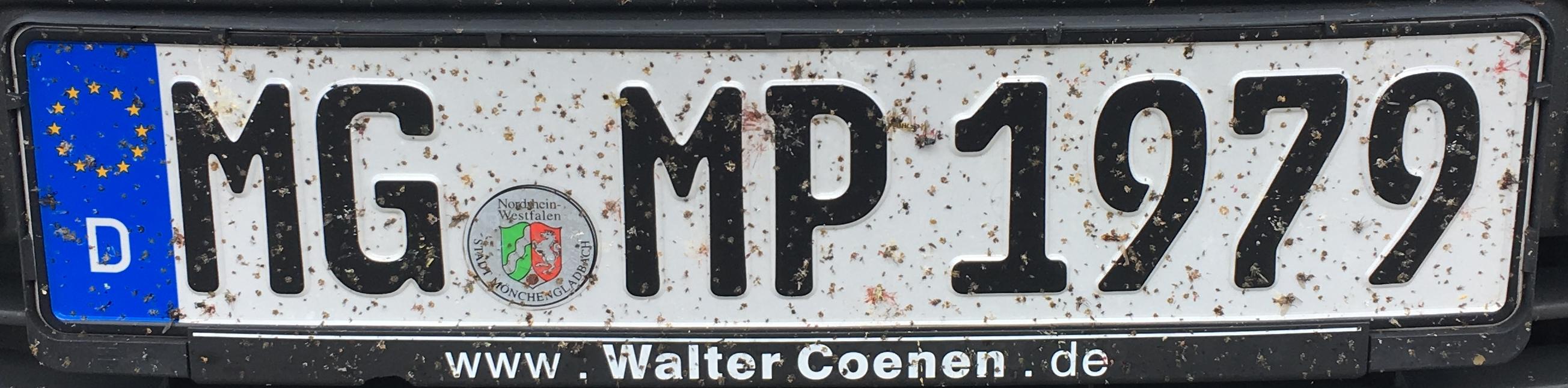 Registrační značka Německo – MG - Mönchengladbach, foto: www.podalnici.cz