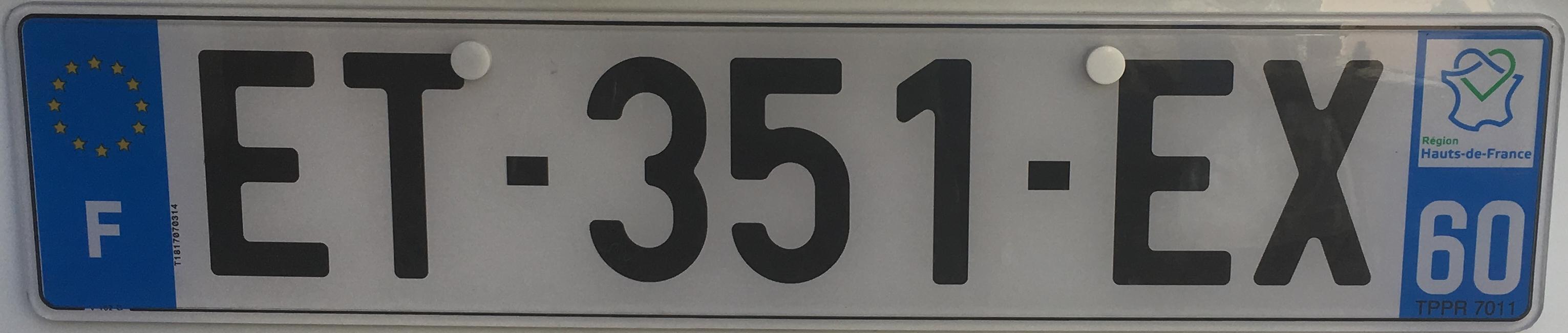 Francouzská registrační značka – 60 - Oise, foto: www.podalnici.cz