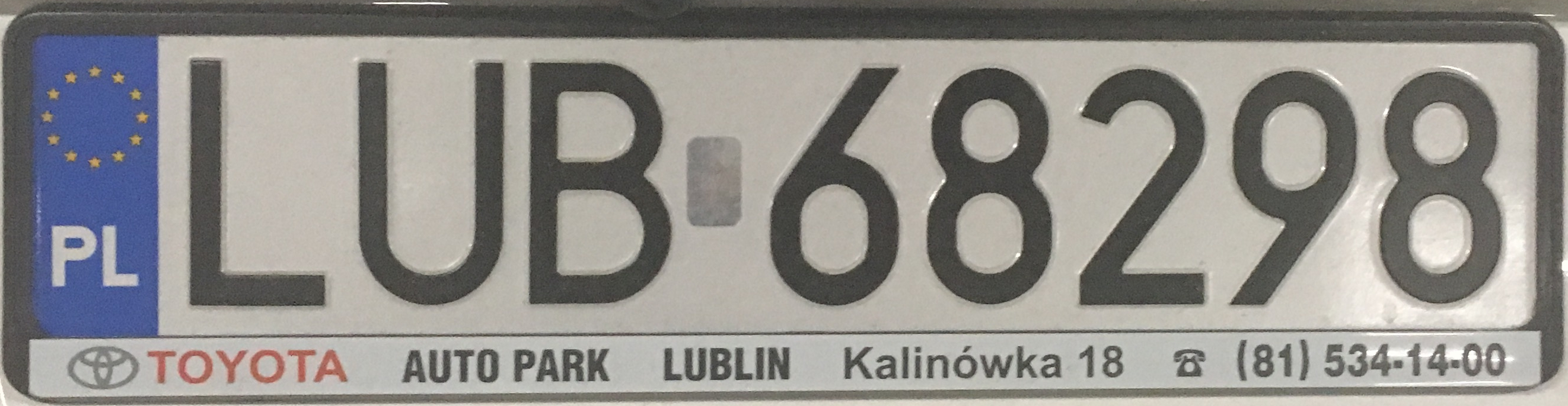 Registrační značka Polsko – LUB - Lublin-venkov, foto: www.podalnici.cz