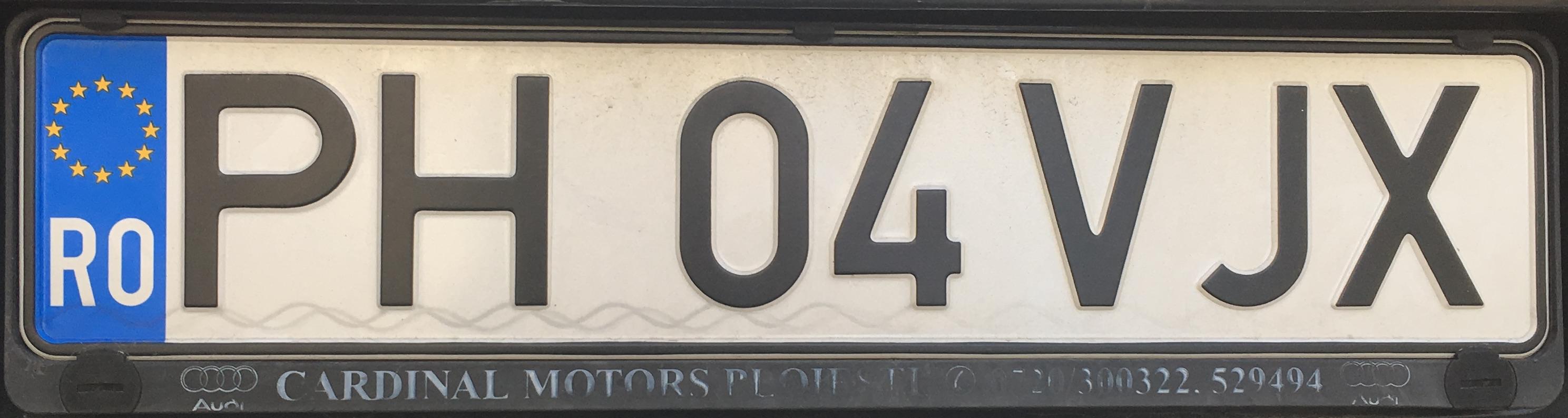 Registrační značky Rumunsko – PH – Prahova, foto: www.podalnici.cz
