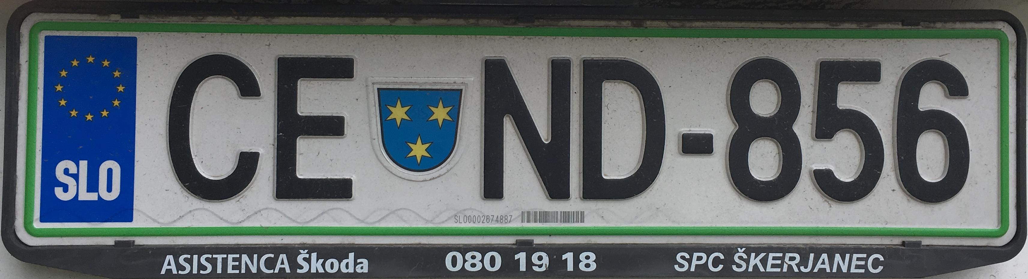 Registrační značka Slovinsko – CE – Celje, foto: www.podalnici.cz