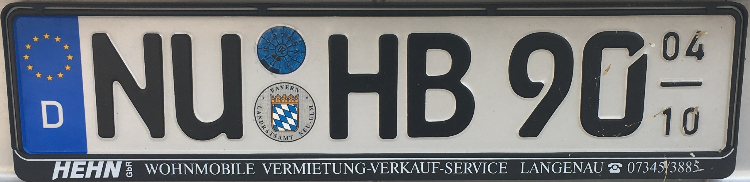 Registrační značky Německo - NU - Neu-Ulm (sezónní), foto: www.podalnici.cz