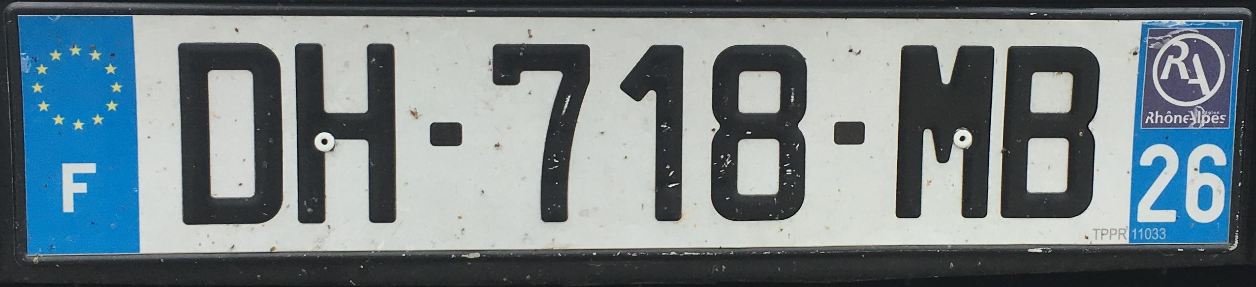 Francouzská registrační značka – 26 - Drôme, foto: www.podalnici.cz