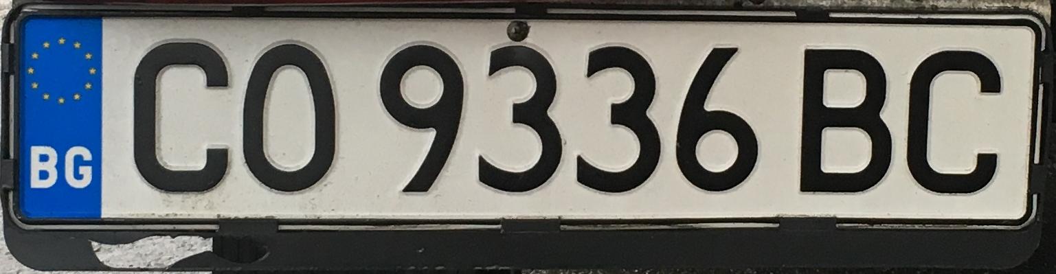 Registrační znaky Bulharsko - CO - Sofia-venkov, foto: www.podalnici.cz
