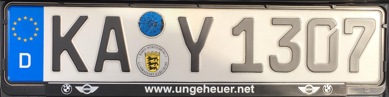 Registrační značka Německo – KA - Karlsruhe, foto: www.podalnici.cz