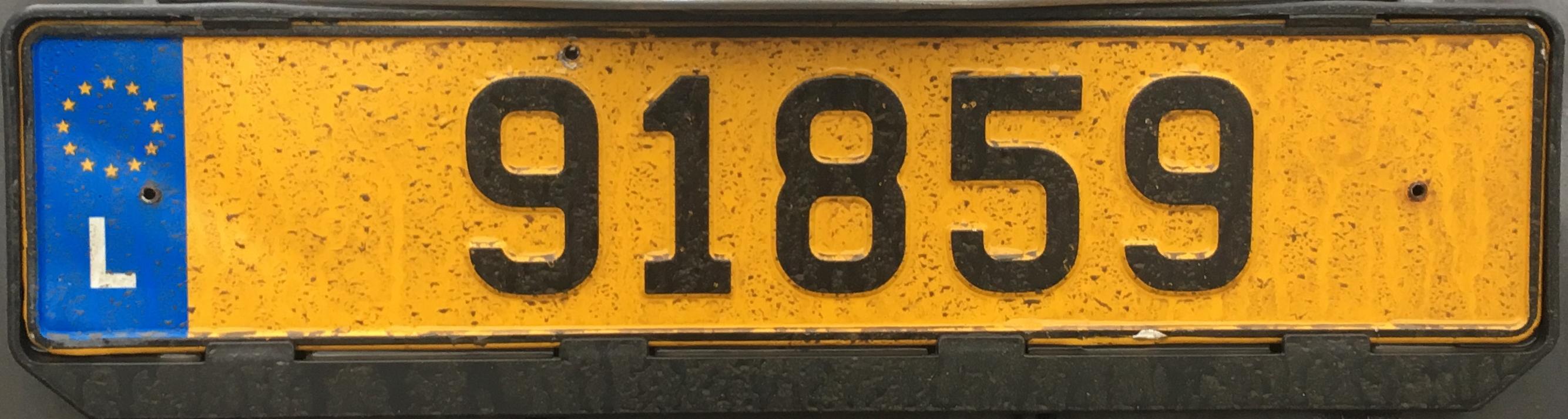 Registrační značka Lucembursko – na přání, foto: www.podalnici.cz