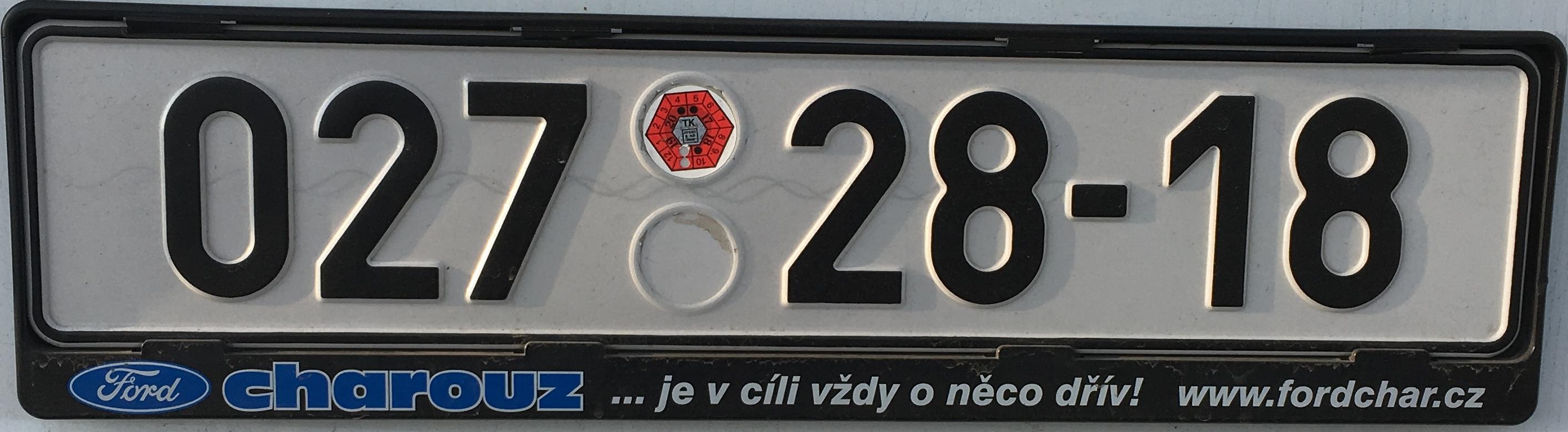 Česká registrační značka – armáda ČR, foto: www.podalnici.cz