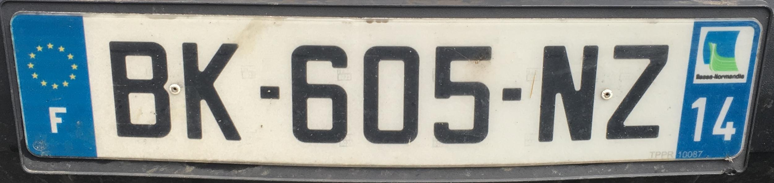 Francouzská registrační značka – 14 - Calvados, foto: www.podalnici.cz