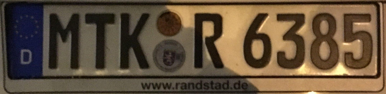 Registrační značky Německo - MTK – Main-Taunus-Kreis, foto: www.podalnici.cz