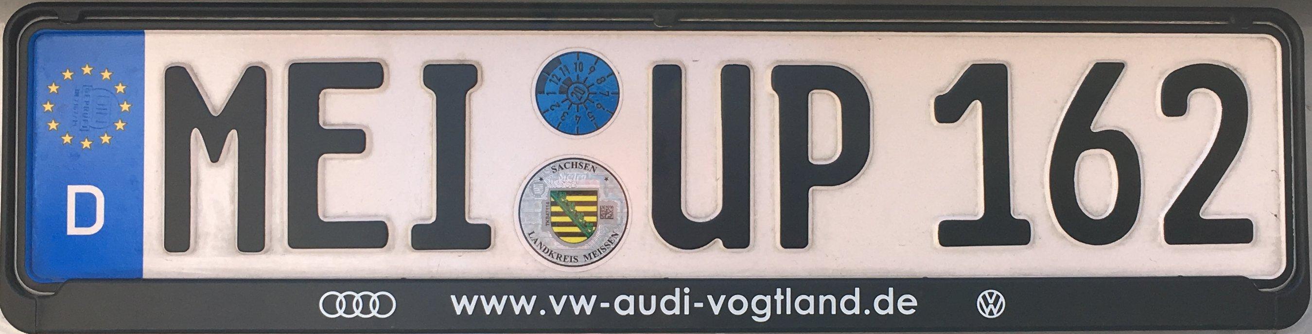 Registrační značky Německo - MEI - Meissen, foto: podalnici.cz