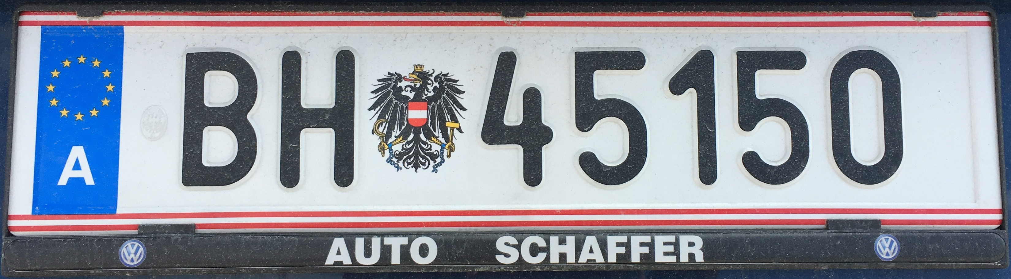 Registrační značka Rakousko - armáda, foto: www.podalnici.cz