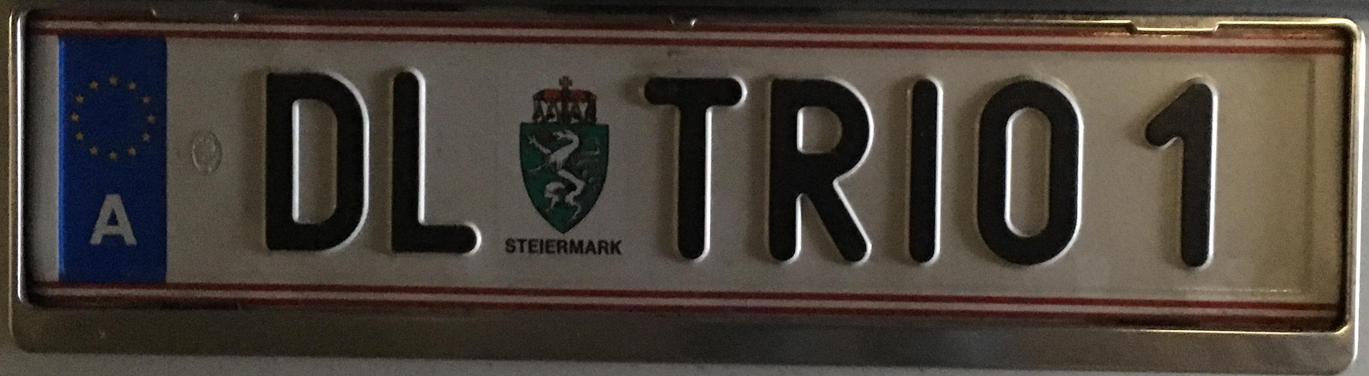 Registrační značka Rakousko - DL - Deutschlandsberg, foto: www.podalnici.cz