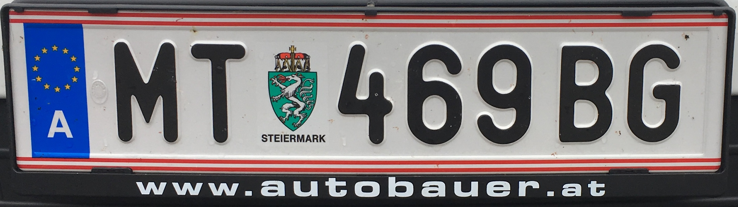 Registrační značka Rakousko - MT - Murtal, foto: www.podalnici.cz