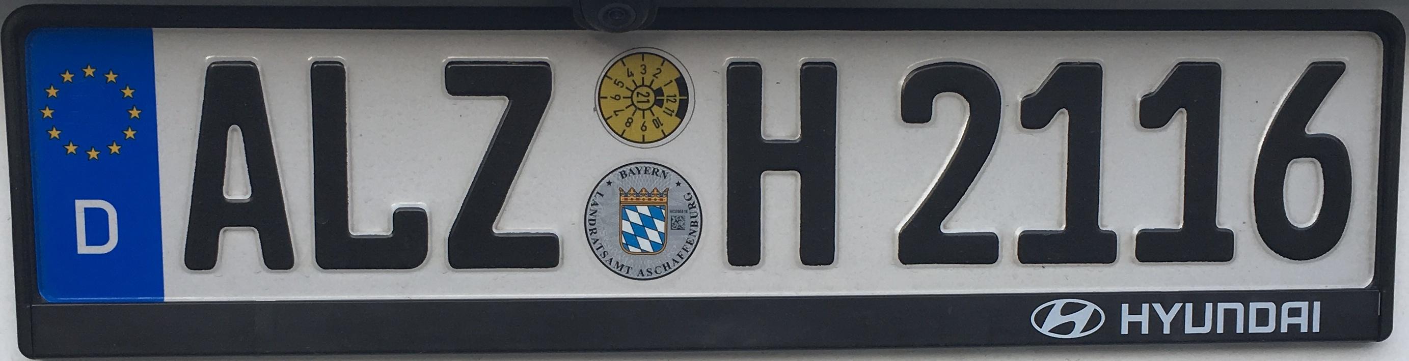 Registrační značka Německo - ALZ - Alzenau in Unterfranken (AB), foto: www.podalnici.cz