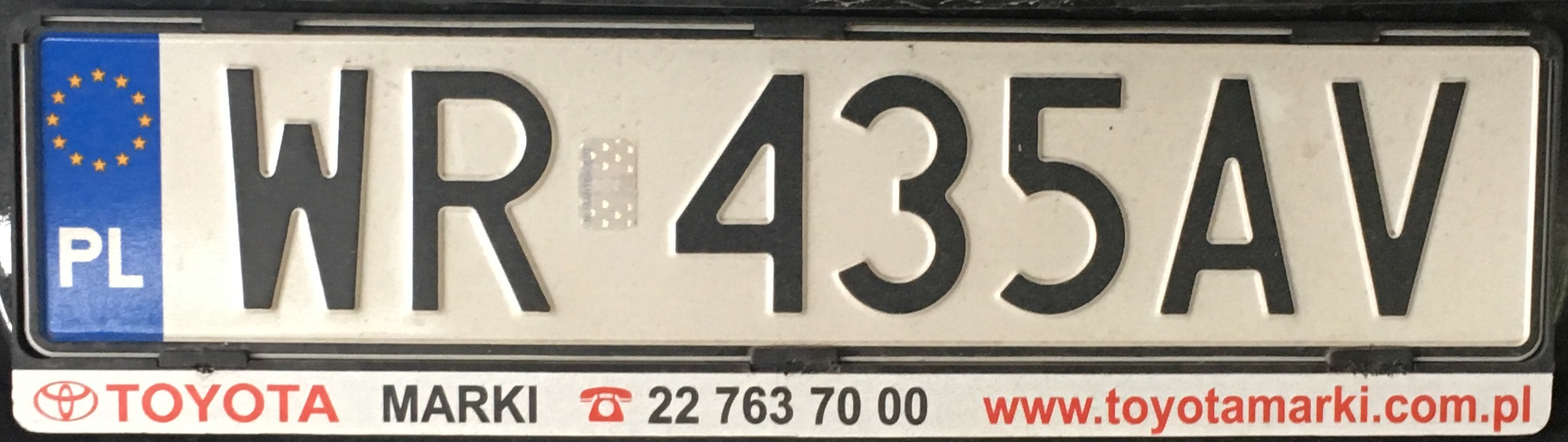 Registrační značka Polsko - WR - Radom, foto: www.podalnici.cz
