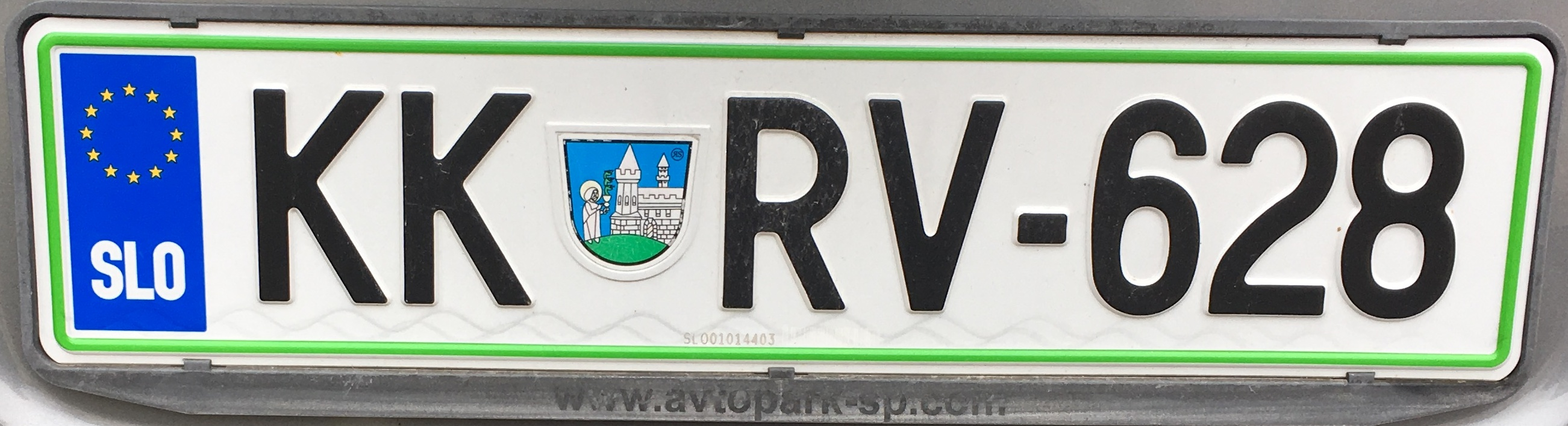 Registrační značka Slovinsko - KK - Krško, foto: www.podalnici.cz