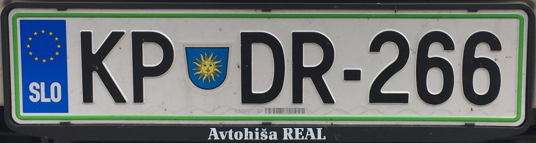 Registrační značka Slovinsko - KP - Koper, foto: www.podalnici.cz