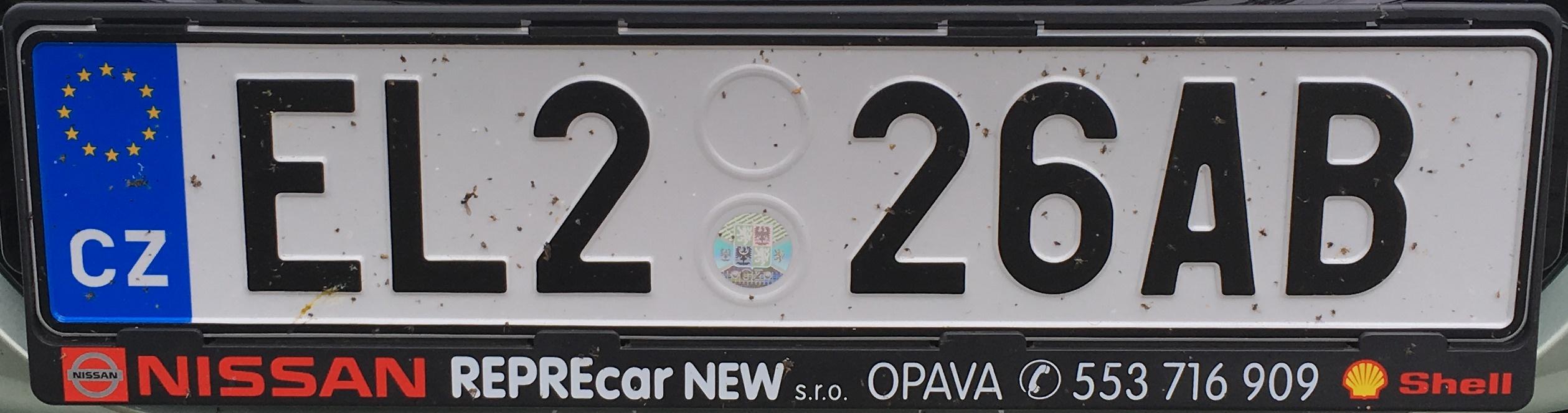 Česká registrační značka – elektromobil, foto: www.podalnici.cz