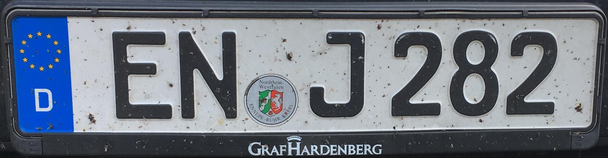 Registrační značka Německo - EN - Ennepe-Ruhr-Kreis, foto: www.podalnici.cz