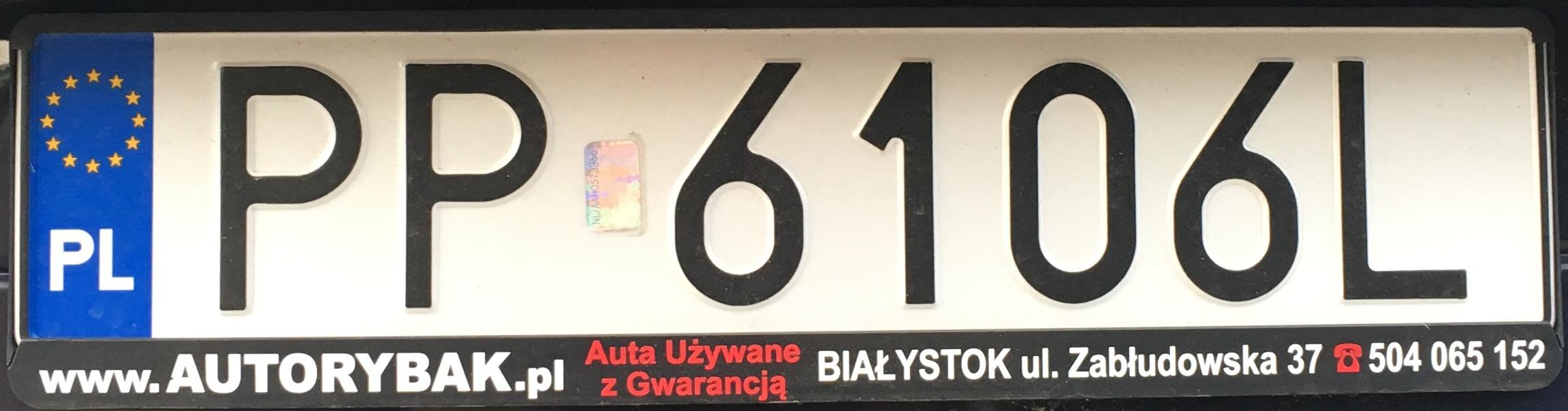 Registrační značka Polsko - PP - Piła, foto: www.podalnici.cz
