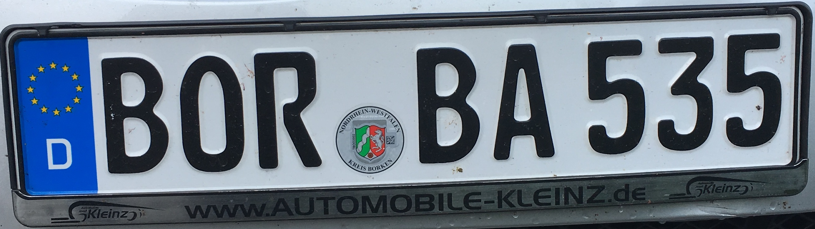 Registrační znaky Bulharsko - BOR - okres Borken, foto: www.podalnici.cz