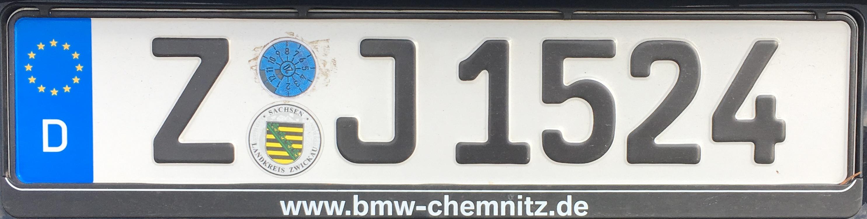 Registrační značky Německo – Z – Zwickau, foto: www.podalnici.cz