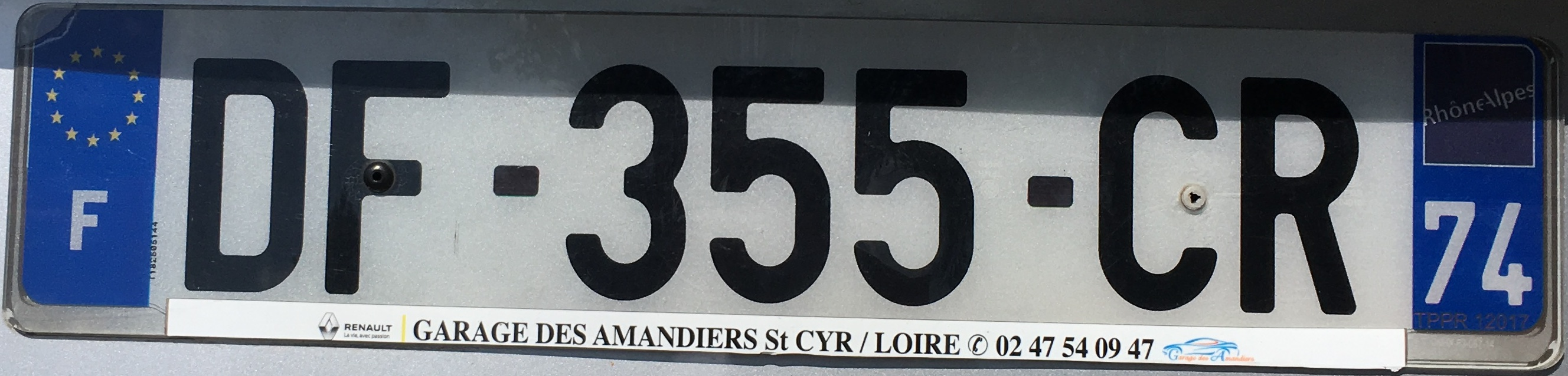 Francouzská registrační značka - 74 - Haute-Savoie, foto: www.podalnici.cz