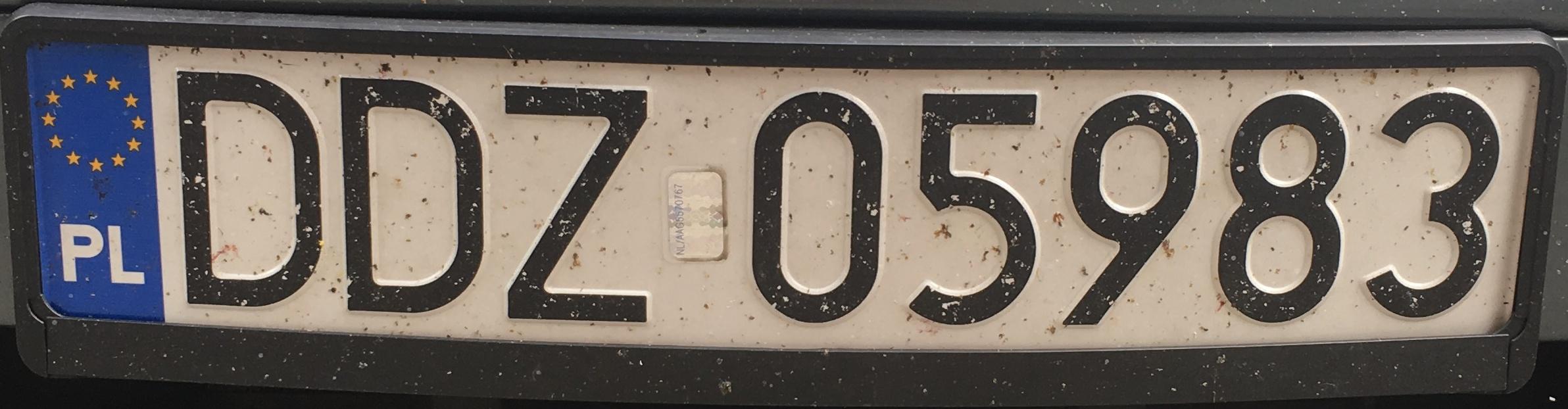 Registrační značka Polsko – DDZ – Dzierżoniów, foto: www.podalnici.cz