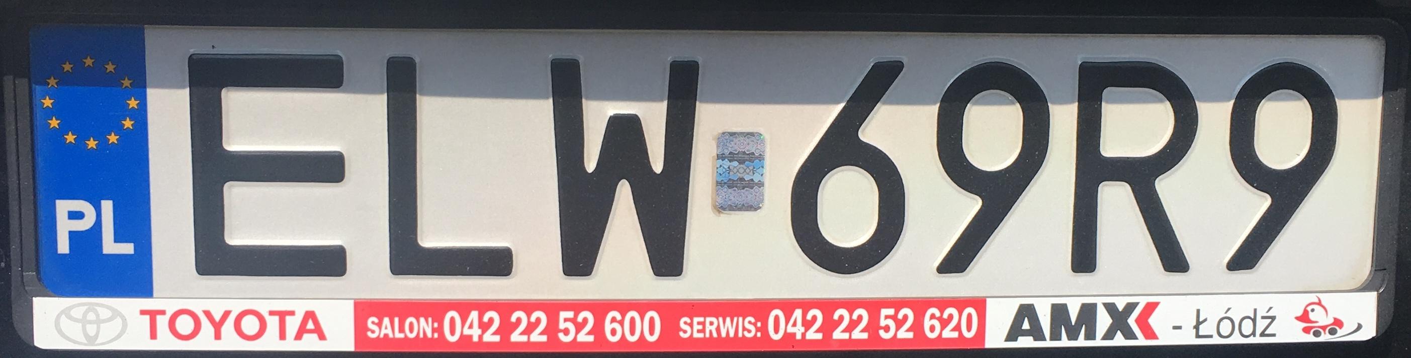 Registrační značka Polsko – ELW - Łódź-východ, foto: www.podalnici.cz