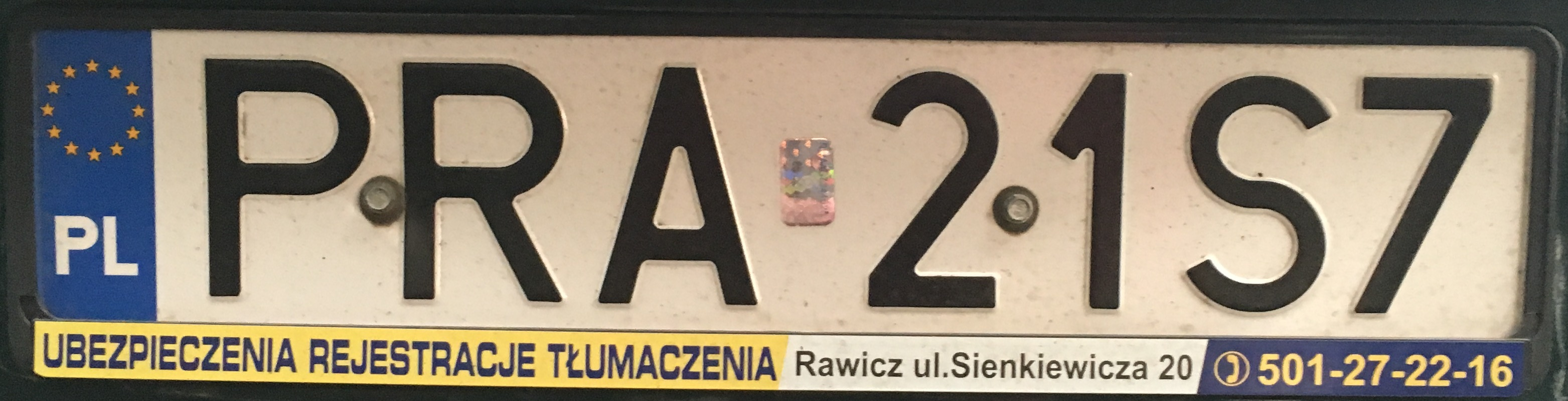 Registrační značka Polsko – PRA - Rawicz, foto: www.podalnici.cz