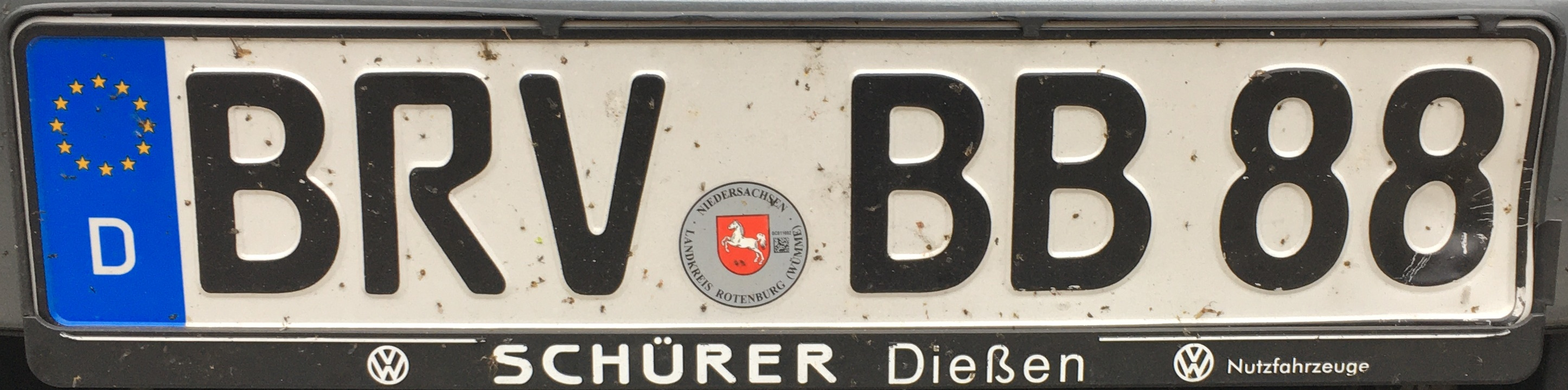 Registrační značky Německo - BRV - Bremervörde, foto: www.podalnici.cz