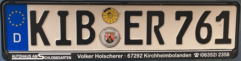 Registrační značky Německo - KIB - Donnersbergkreis, foto: www.podalnici.cz