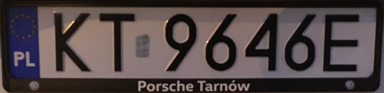 Registrační značka Polsko - KT - Tarnów, foto: www.podalnici.cz