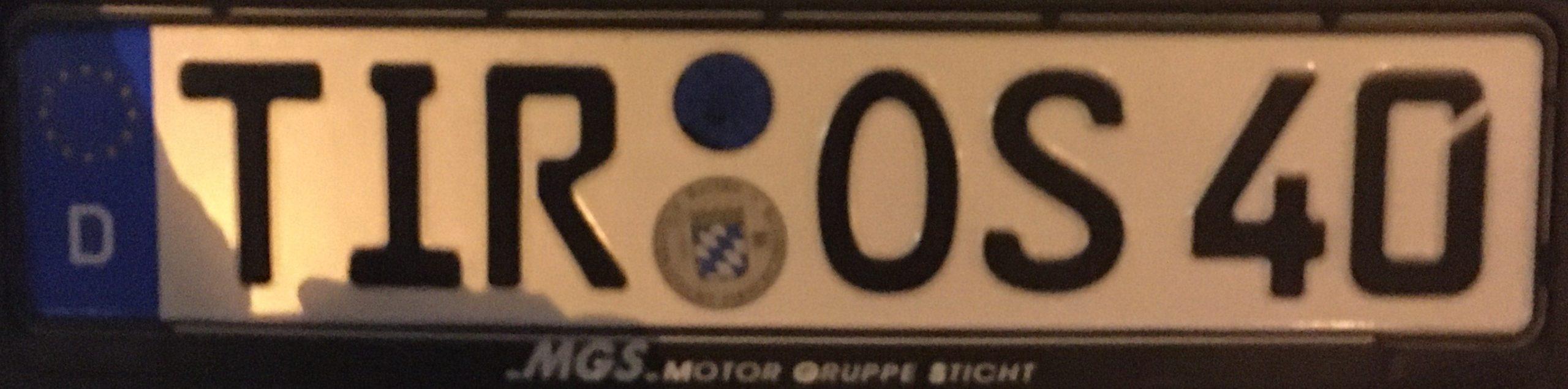 Registrační značky Německo - TIR - Tirschenreuth, foto: www.podalnici.cz