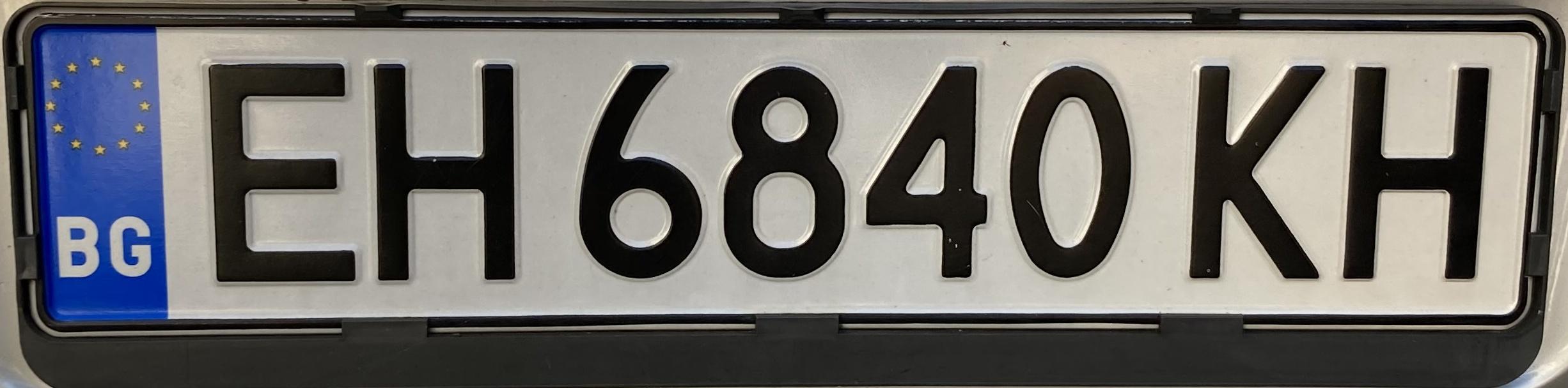 Registrační znaky Bulharsko – EH – Pleven, foto: www.podalnici.cz