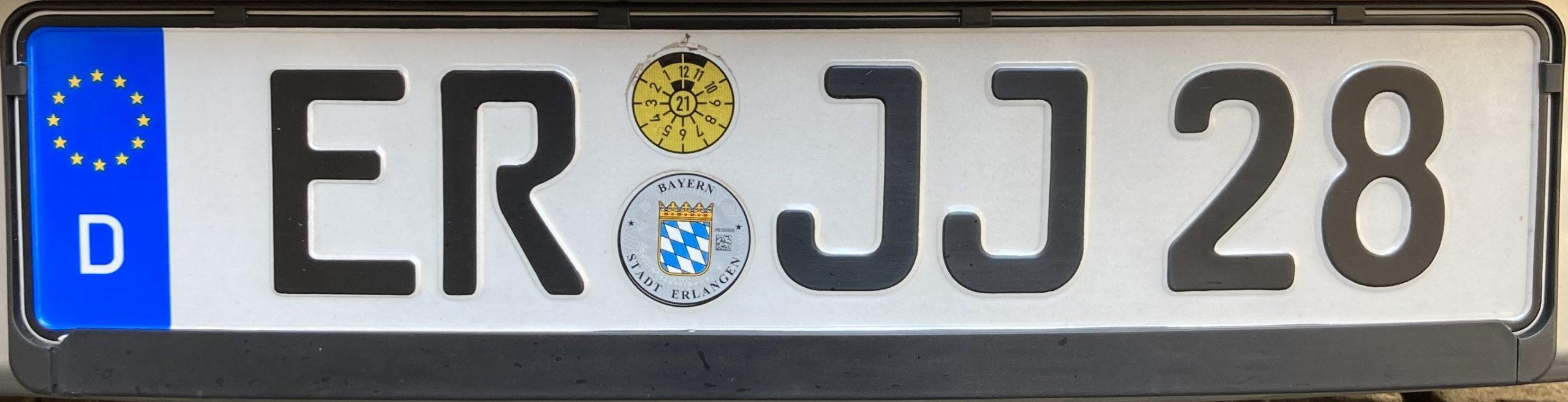 Registrační značky Německo - ER - Erlangen, foto: www.podalnici.cz