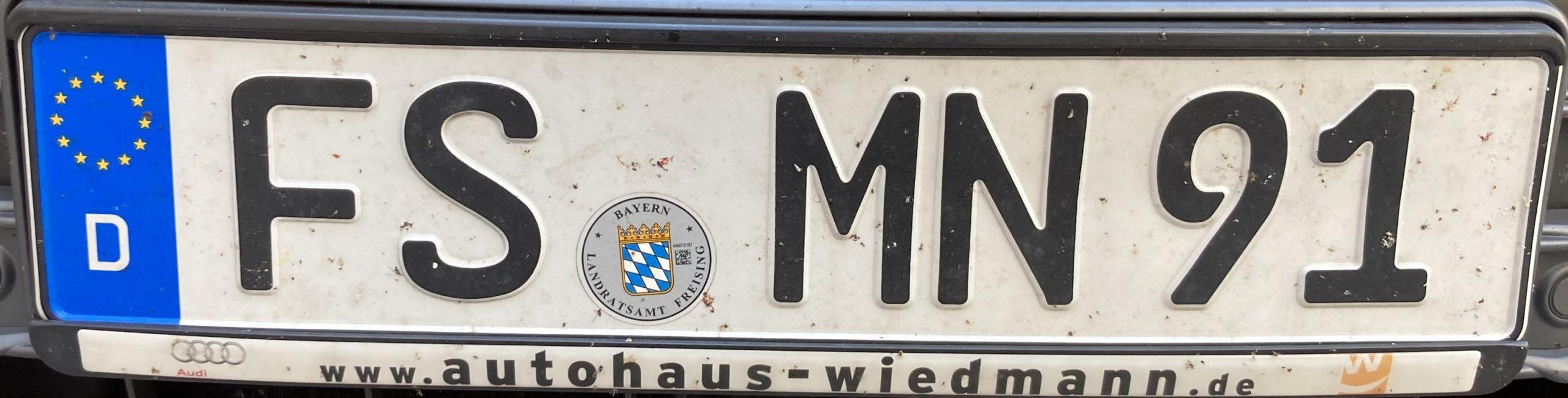 Registrační značky Německo - FS - Freising, foto: www.podalnici.cz