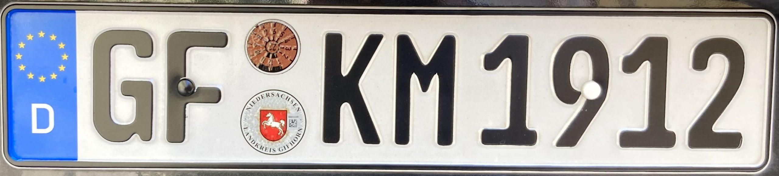 Registrační značky Německo - GF - Gifhorn, foto: www.podalnici.cz