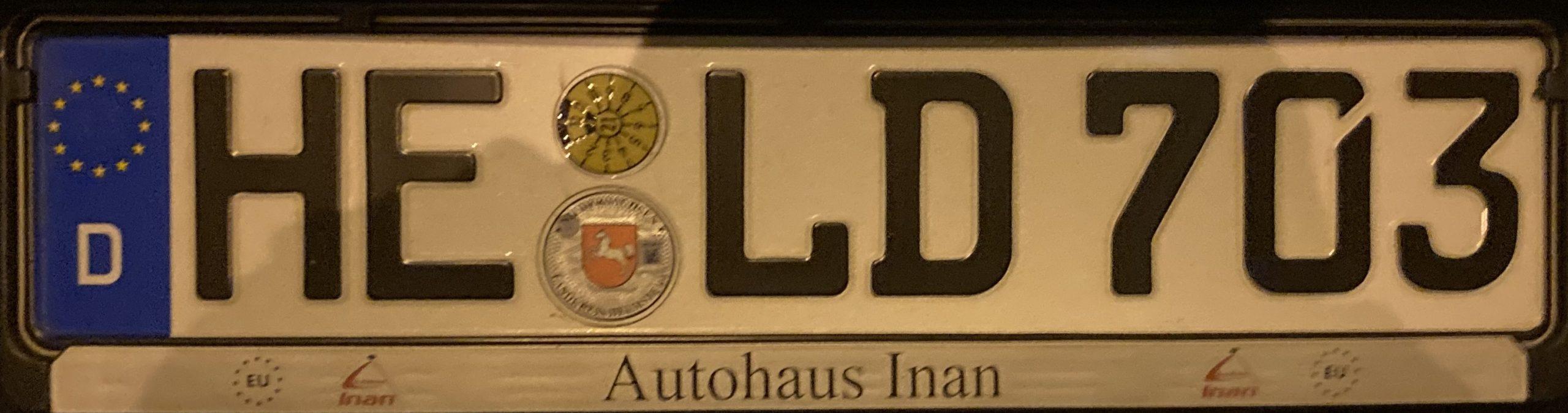 Registrační značky Německo - HE - Helmstedt, foto: www.podalnici.cz